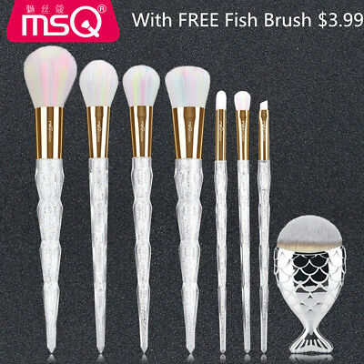 7PCs Kabuki Powder Makeup Brush Set Foundation Eyeshadow Lip Blush Brushes Kits