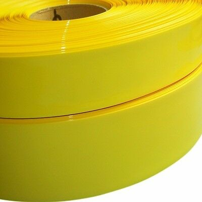 Φ115mm Yellow Battery Sleeve Wrap PVC Heat Shrink Tubing Flat Width 180mm x 1M