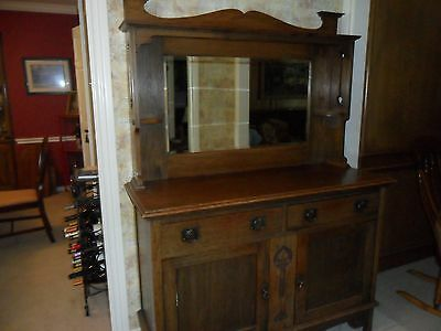 Antique English Oak Sideboard Server Buffet