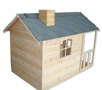 NEW Wooden Kids Outdoor Backyard Playhouse Cubby House with Windows and Verandah
