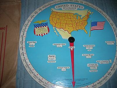 United States At -A-Glance Map/atlas  Reel 1931 W/ Packaging Still Works