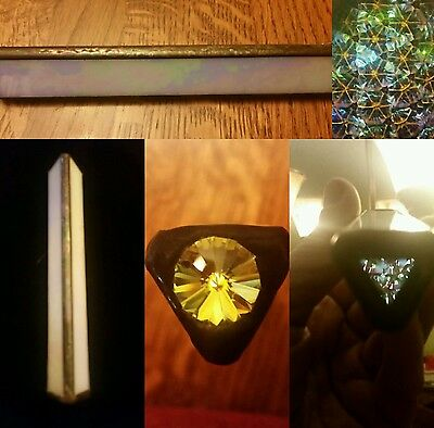 Mini White Vintage handmade stained glass kaleidoscope