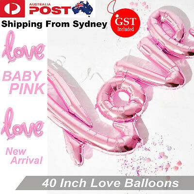 40 Inch Baby Pink Love Foil Balloon Balloons Backdrop Handwriting Wedding Party