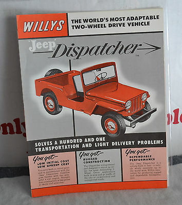 VTG 1955 Advertising Willys Jeep Dispatcher Brochure Near Mint WX 241-6 N