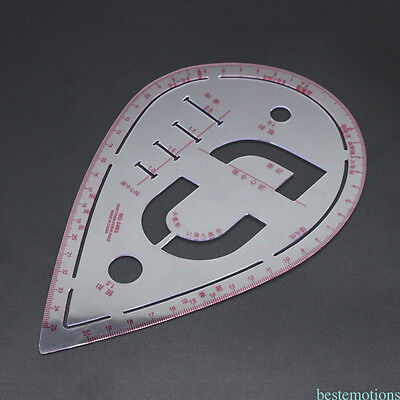 Water Drop Shape Plastic Sewing Patchwork Cloth Drawing Making Curve Ruler TSY