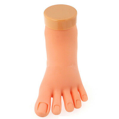 Silicone Practice Foot Mannequin For Pedicure Training Mannequin + Nail Display