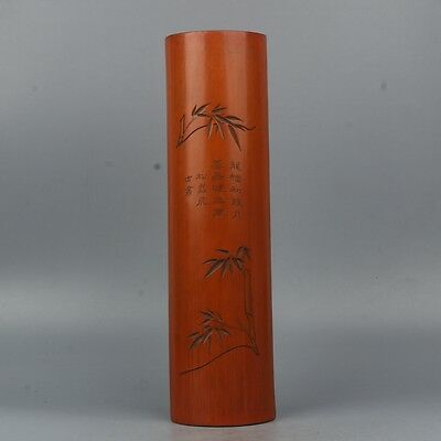 China Exquisite Hand-carved Text bamboo carving bamboo paperweight