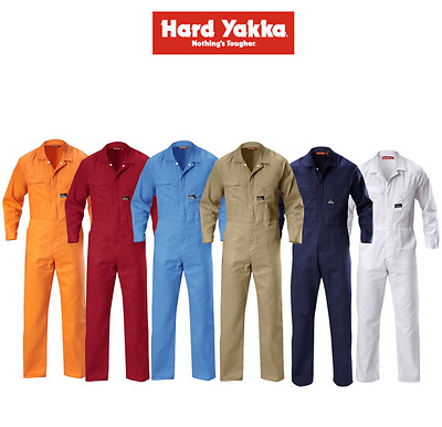 NEW Hard-Yakka Foundations Coverall Cotton Drill Lightweight Overall LIGHTWEIGHT