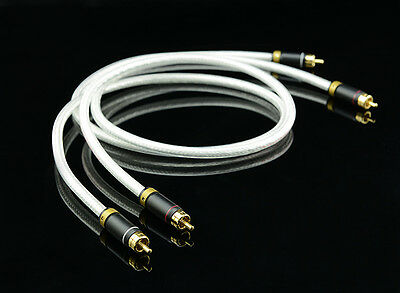High End MPS M-4 2RCA to 2RCA Audio Cable, Sliver Plated 6N OFC Hi Fi 99.99997%