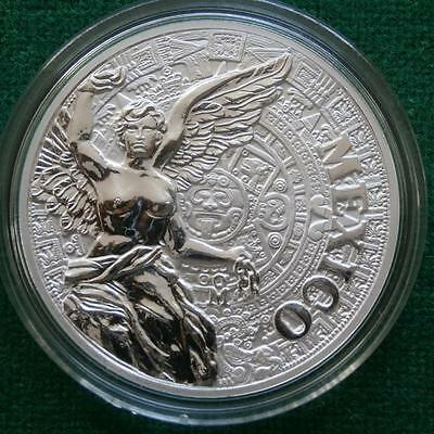 2016 AZTEC CALENDAR WINGED VICTORY MEXICAN MONUMENTS 1 Oz Silver Proof Medal
