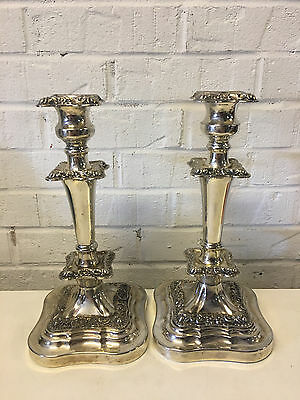 Vintage Goldfeder Silver Plated Pair of Candlesticks / Candle Holders