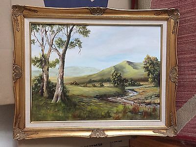 Original Oil Painting - Australian Landscape Framed