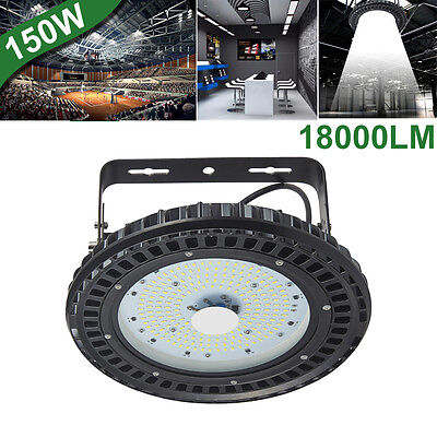 150W UFO LED High Bay Light Factory Warehouse Shed Industrial Lighting 6500K