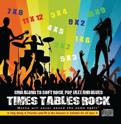 Times Tables Rock Audio CD. Maths will never sound the same again . (CD)