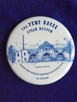 Pump House Steam Engine Museum Kingston Ontario Canada Collector Button Pinback