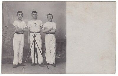 Turner Jungen Turnverein Sporty young boys from German sport club  RPPC Foto1910