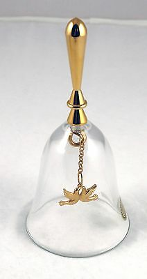1986 Gerity Products 24kt Gold Plated 24% Lead Crystal Dove Bell