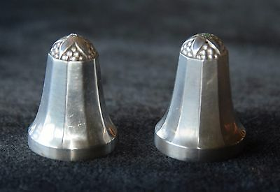 Beautiful Georg Jensen Sterling Salt & Pepper Shakers Set # 423 A 3 1/2""