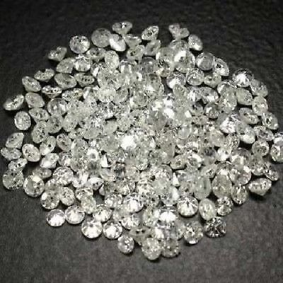 White Round Diamond Natural Single Cut 2 Pcs 0.80 mm G-H Color gtc