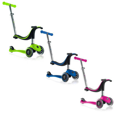 Globber 4 In 1 My Free 3-Wheel Kids Push Scooter - Multiple Colours