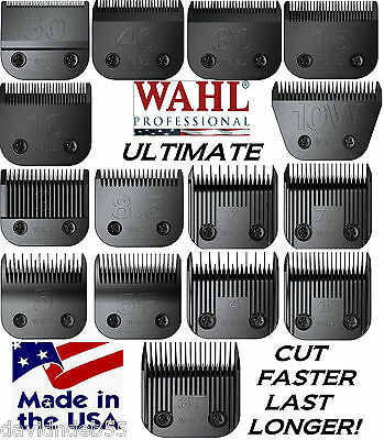 WAHL ULTIMATE COMPETITION BLADE*15 SIZES*Fit Many Andis Clipper*PET DOG GROOMING