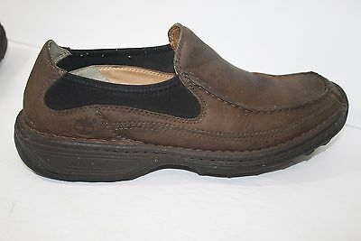Timberland Genuine Leather Brown Slip On Mocs Loafers 79005 Mens Size 9.5