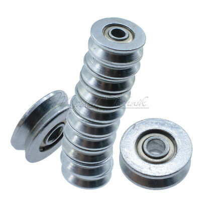 10PCS V623ZZ Skateboard Bearing Miniature Bearing V-groove bearings 3X12X4mm