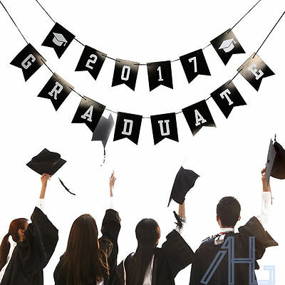 2017 Graduate Garland Bunting Banner for Graduation Prom Party Decorations