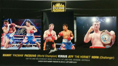 Manny Pacquiao Signed 'battle Of Brisbane' Framed Piece-Coa