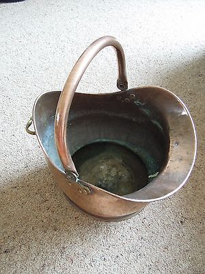 Antique copper & brass coal scuttle