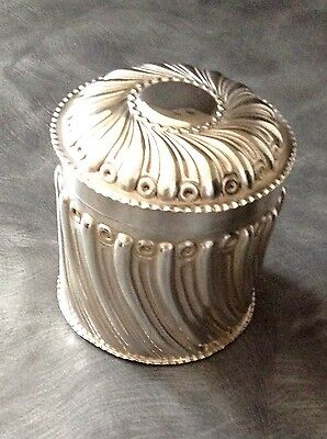 Solid Silver Tea Caddy William Comyns London 1894