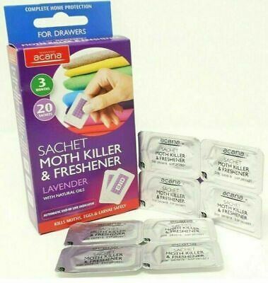 Acana MOTH KILLER & FRESHENERS with Lavender Fragrance 20 Pack