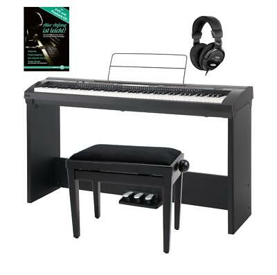 Digital Electric Piano E-Piano Set 88 Keys 600 Voices Bench Base Stand Headphone