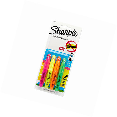 Sharpie Accent Mini Highlighters, 4 Colored Highlighters(20374)