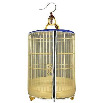 Mesh Bird Cage Cover Anti-Mosquito Parrot Finch Canary Round Birdcage Dust Cover