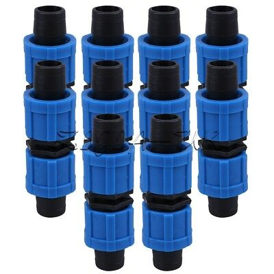 10pcs Connectors Straight-Through Joint 16mm Tape Drip Garden Irrigation Coupler