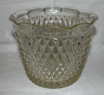 Indiana Glass Diamond Point Jardiniere Replacement FSH