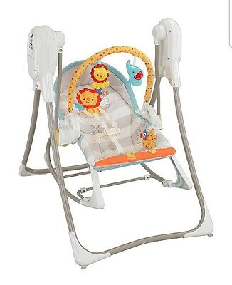 fisher price 3 in 1 swing, rocker and chair