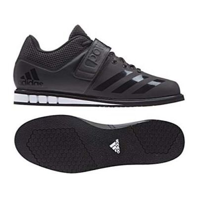 ADIDAS Adults Powerlift 3.1 Black Weightlifting Shoes - Deadlift Crossfit BA8019