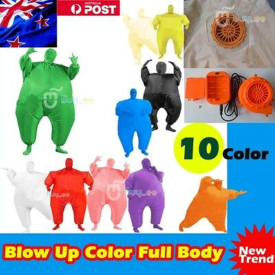 Inflatable Suit Chub Fat Masked Fancy Dress Blow Up Party Costume Fan Operated