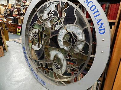 huge vintage art deco circular outdoor steel display ready for mounting,-REDUCED