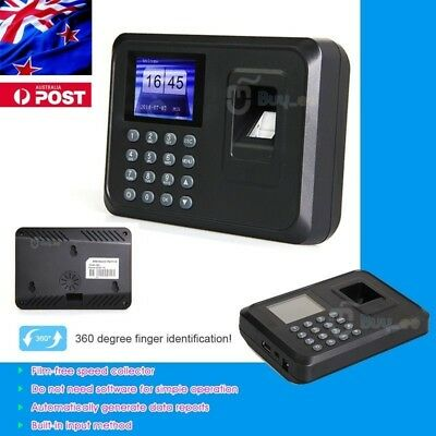 Time Recorder Clocking Attendance in USB clock Machine Fingerprint + Password