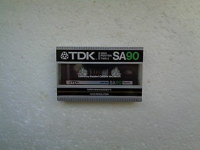 Vintage Audio Cassette TDK SA 90 * Rare Europe Version 1983 * - 1st Version