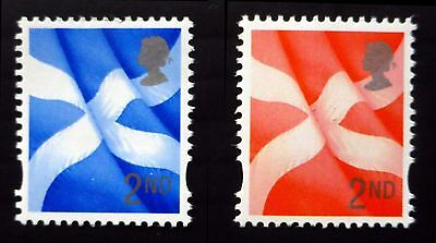 GB 2003 Scotland 2nd Class Colour Trial with Normal NEW PRICE NB2322