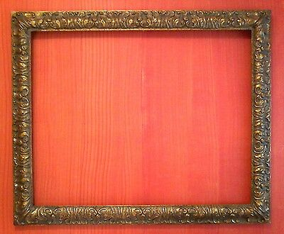 "FAB STANDARD 24 x 36 CLASSIC PICTURE FRAME 3"" WIDE GOLD LEAF SOLID ALL WOOD"