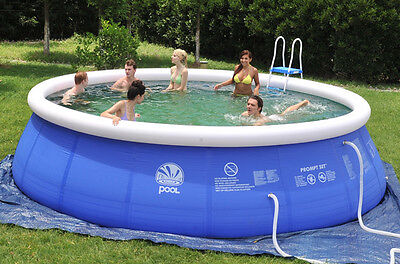 Blue Environmental protection PVC Easy Set Above Ground Swimming Pool Package