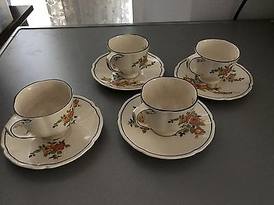 Royal Doulton England 'Rosslyn' D 5399, Set Of 6 Small Coffee Cups And Saucers