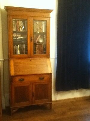 Antique Oak Bureau/Bookcase
