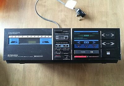 Pioneer Stereo Cassette Tape Deck CT-X500 Player Retro