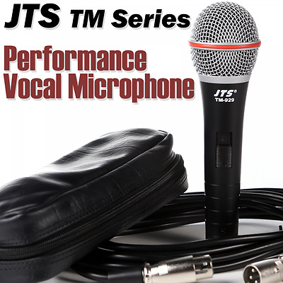 JTS TM-929 Performance Cardioid Dynamic Vocal Microphone Inc Case & Lead - Mic